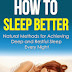 How to Sleep Better - Free Kindle Non-Fiction