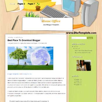Home Office Blogger Template. template for tech blog
