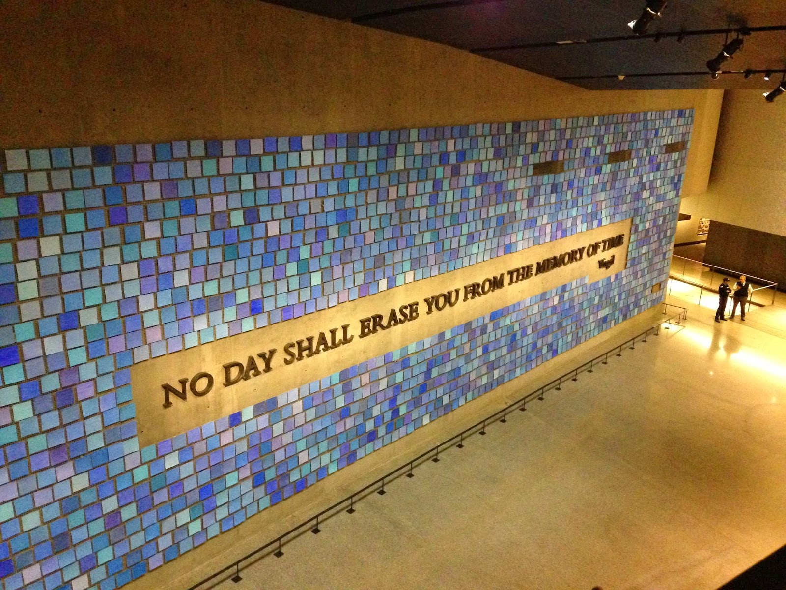Virgil Quote located on a wall inside the 9/11 Museum