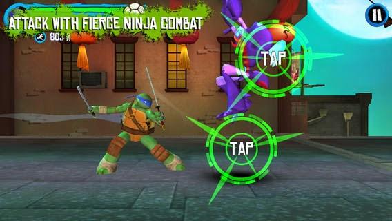 تحميل لعبة سلاحف النينجا الجديدة للأيفون والايباد والايبود Teenage Mutant Ninja Turtles iOS 3.0.1