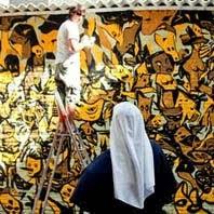 Stop victim war's wall (El arte no es un crimen, el crimen es la guerra). Jul 2011