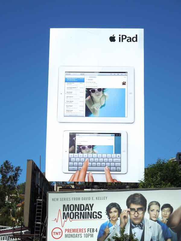 Giant iPad side by side billboard