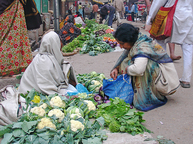 Marché à Varanasi