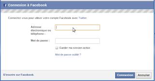 Connexion à facebook