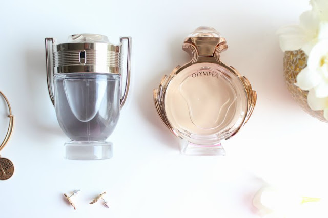Paco Rabanne Olympea and Invictus Fragrances for Her and Him