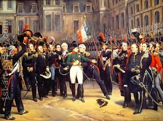 Despedida de Napolón en 1814