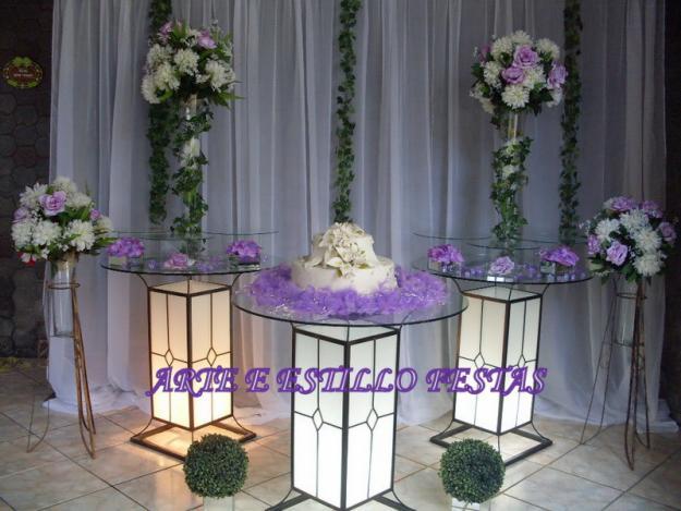 Noivas decoração lilas