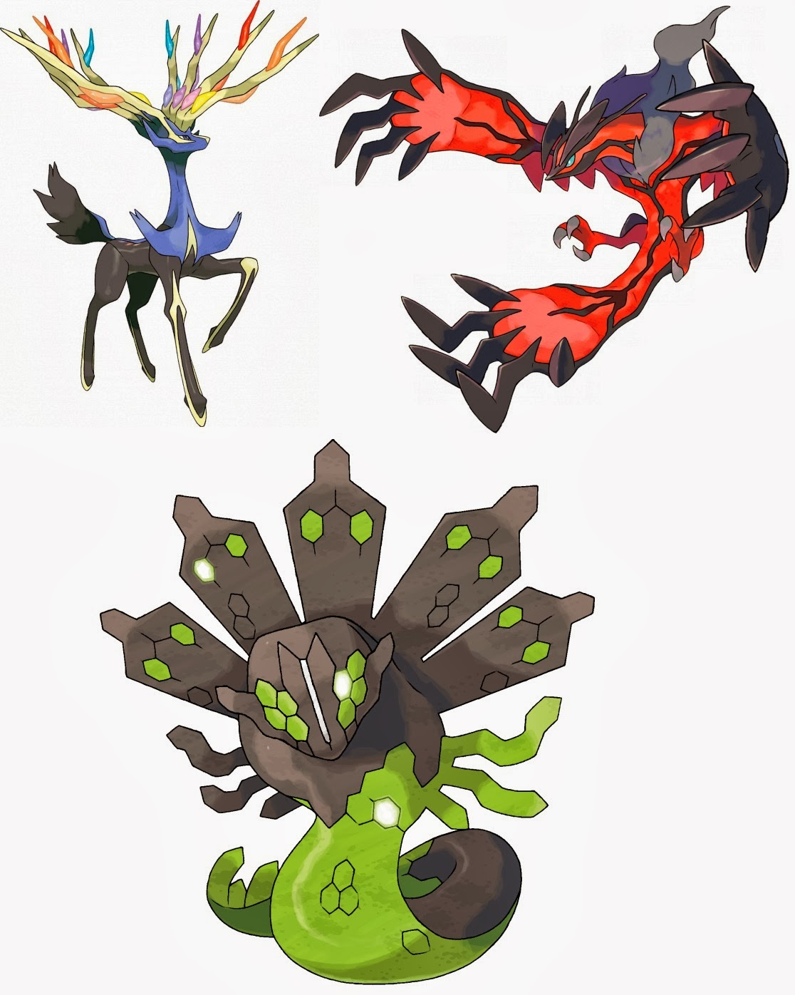 Xerneas And Yveltal And Zygarde Xerneas yvetal zygarde