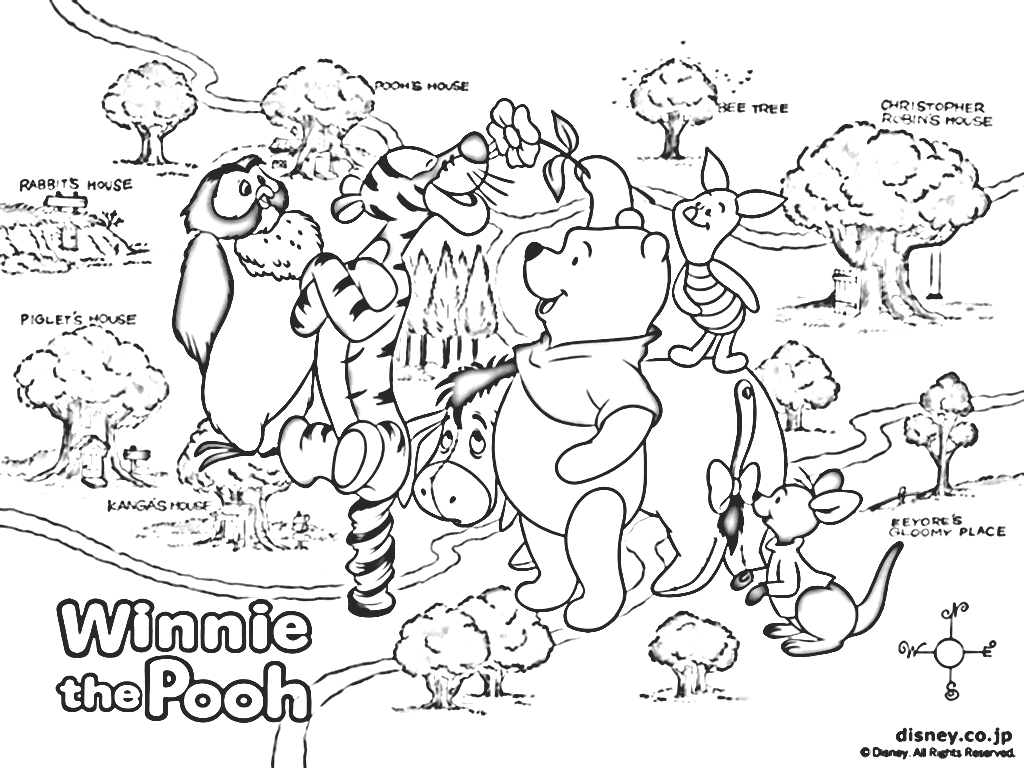 winnie the pooh pictures for coloring 1