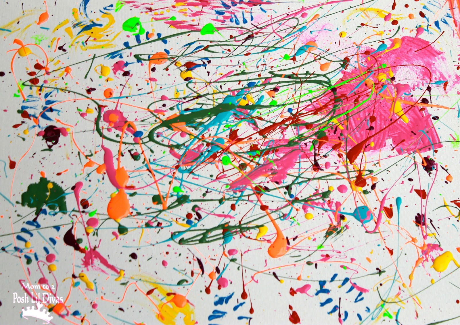 Mom to 2 Posh Lil Divas: Kids Get Arty - Splatter Painting Like ...