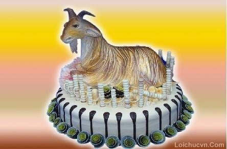 Hình ảnh bánh sinh nhật hình con dê