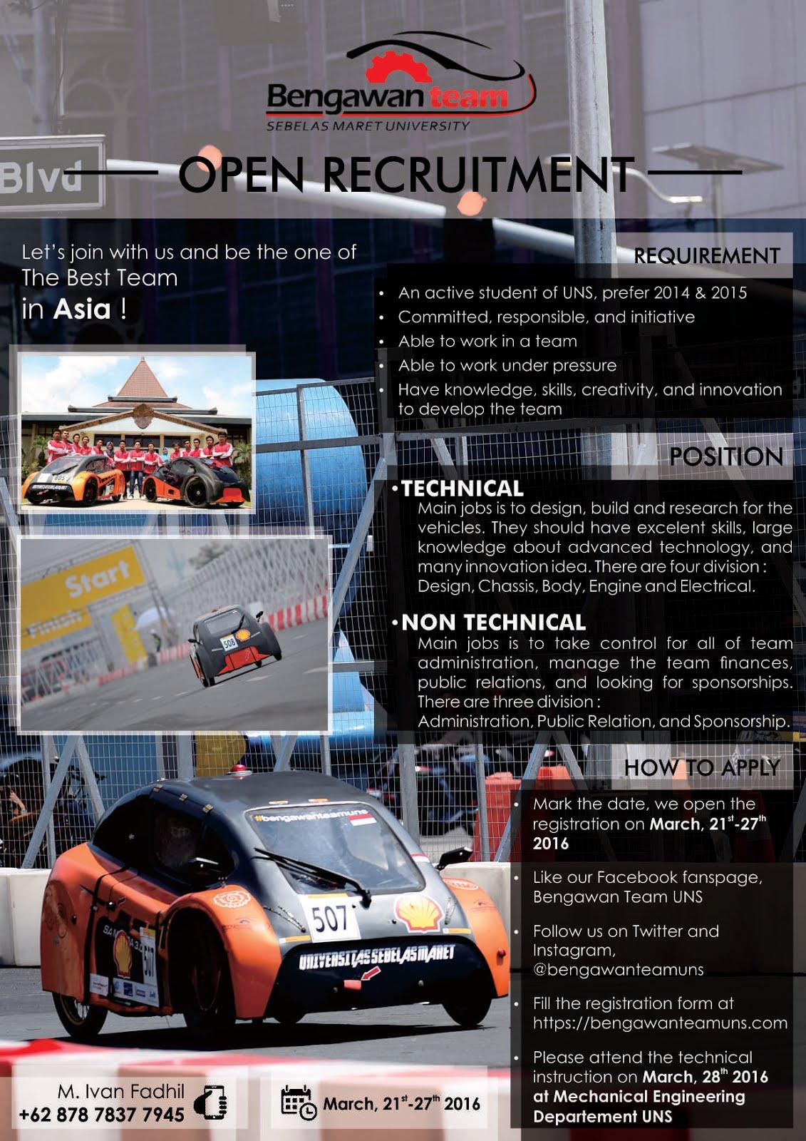 maret 2016 bengawan team uns open recruitment bengawan team uns 2016