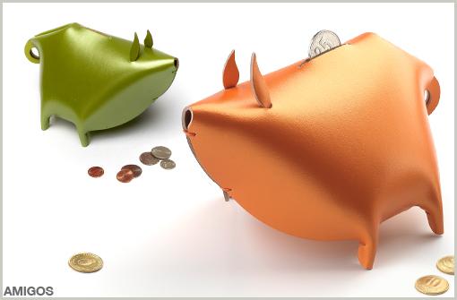 LEATHER PIGGY BANK - AMIGOS