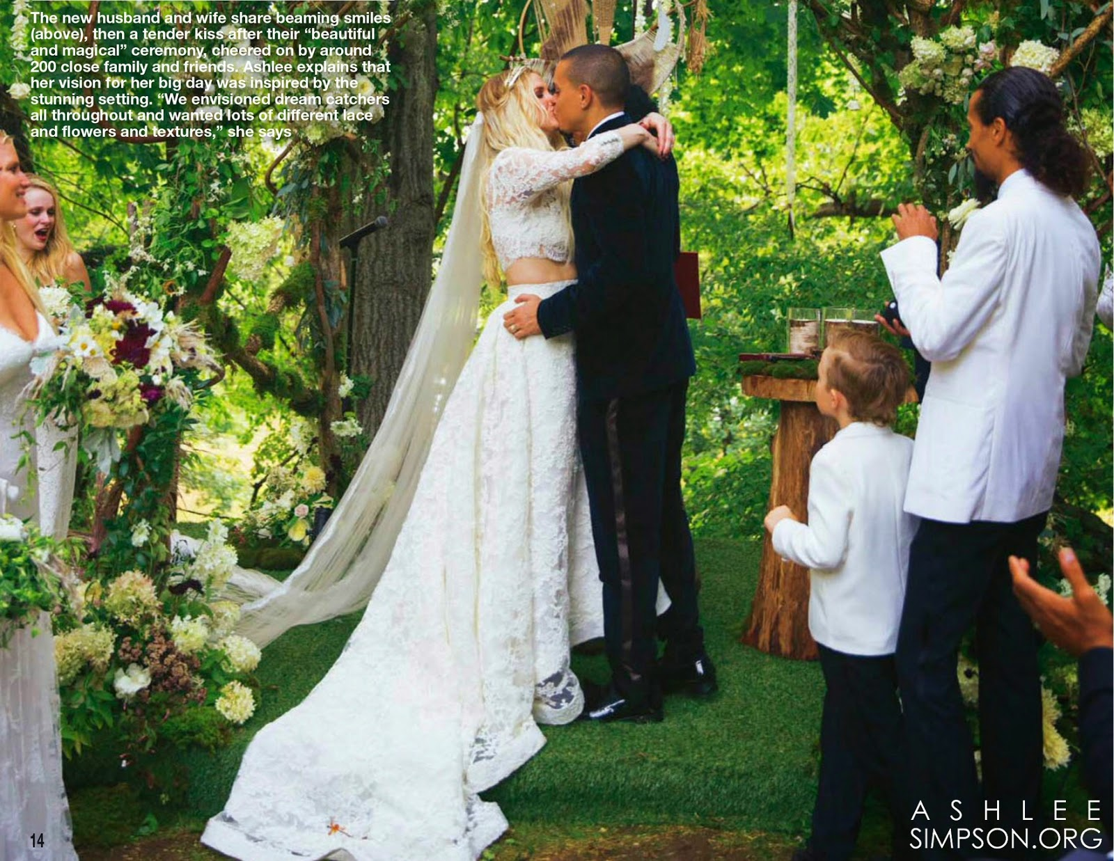 Ashlee Simpson Wedding Flowers Fly Me to the Moon: 20...