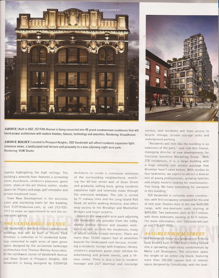 Two ads for 550 vanderbilt in the new york times magazine for Pacific park 550 vanderbilt