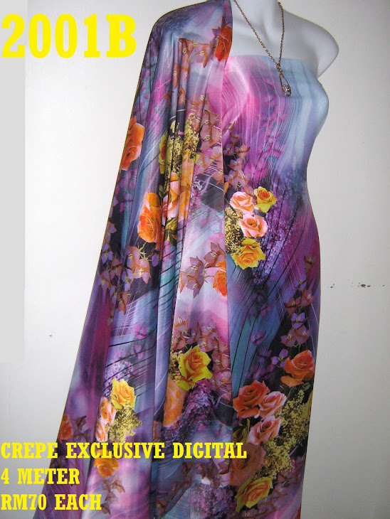 CP 2001B: CREPE EXCLUSIVE DIGITAL PRINTED, 4 METER