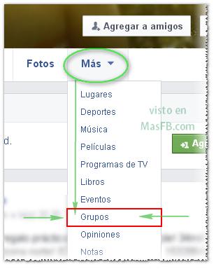 Ver grupos públicos en el perfil - MasFB