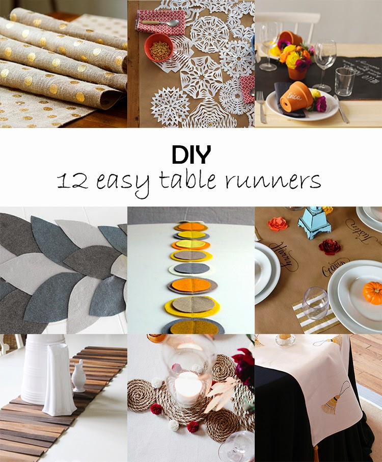 DIY Monday # Table runners