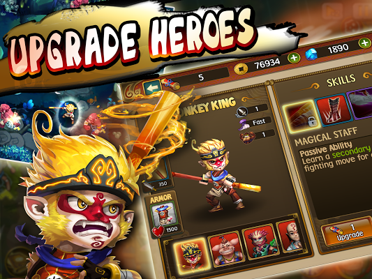 Monkey King Saga MOD Apk screenshot
