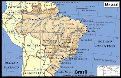 Mapa de Brasil 2012