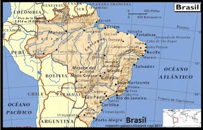 Mapa de Brasil 2012