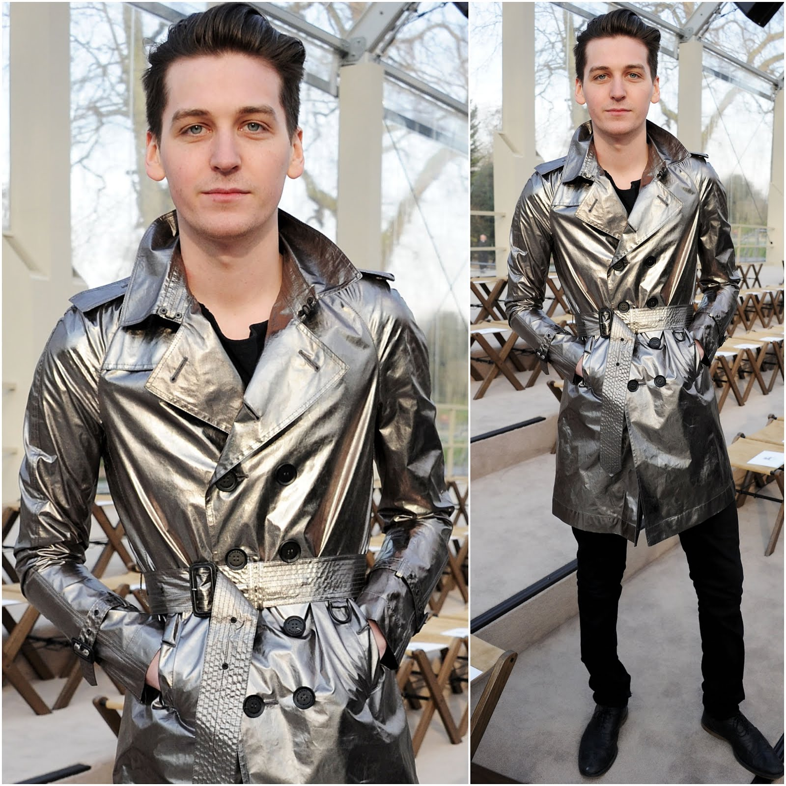 00O00 Menswear Blog George Craig from One Night Only at Burberry Prorsum FW2012 show London Fashion Week February 2013