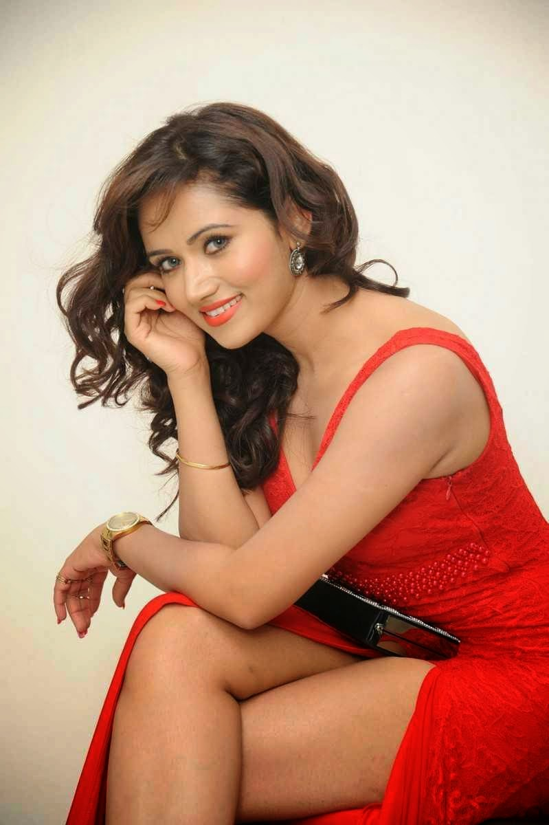 Preeti Rana Hot Pics in Red Dress