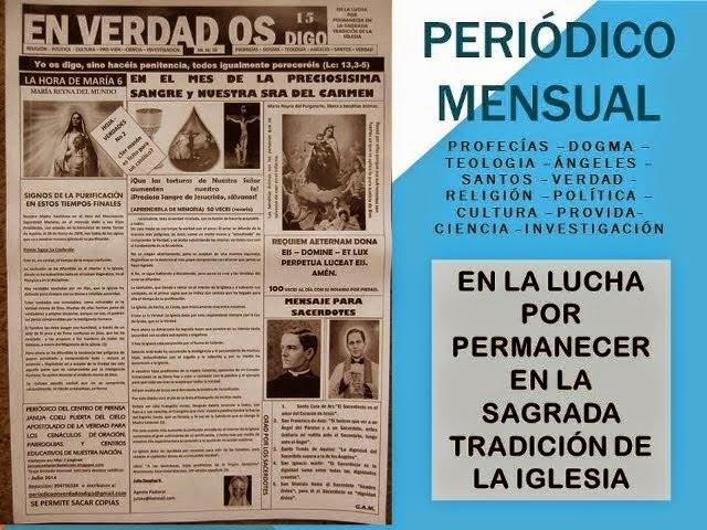 PUBLICACIONES MENSUALES EN VERDAD OS DIGO