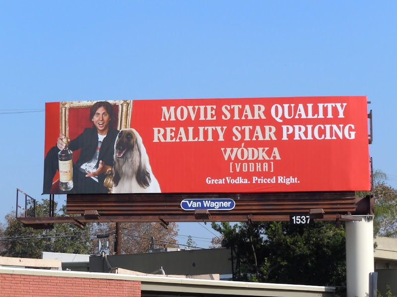 Movie star Wodka billboard