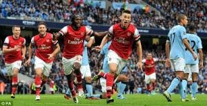 Prediksi Skor Arsenal vs Manchester City 13 Januari 2013