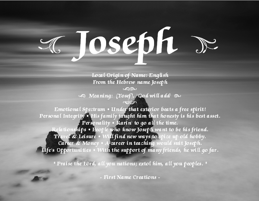 Image Gallery joe name meaning
