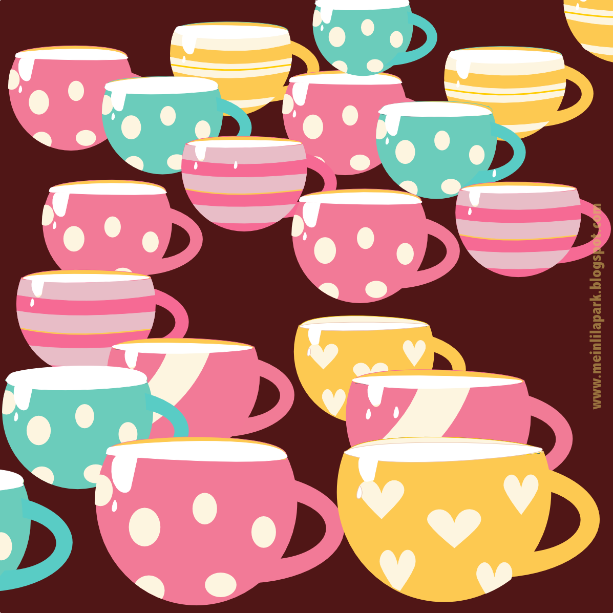Free digital coffee scrapbooking papers and border - ausdruckbares ...