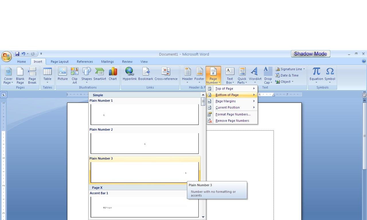 Cara Mengatur Nomor Halaman Pada Microsoft Word 2007