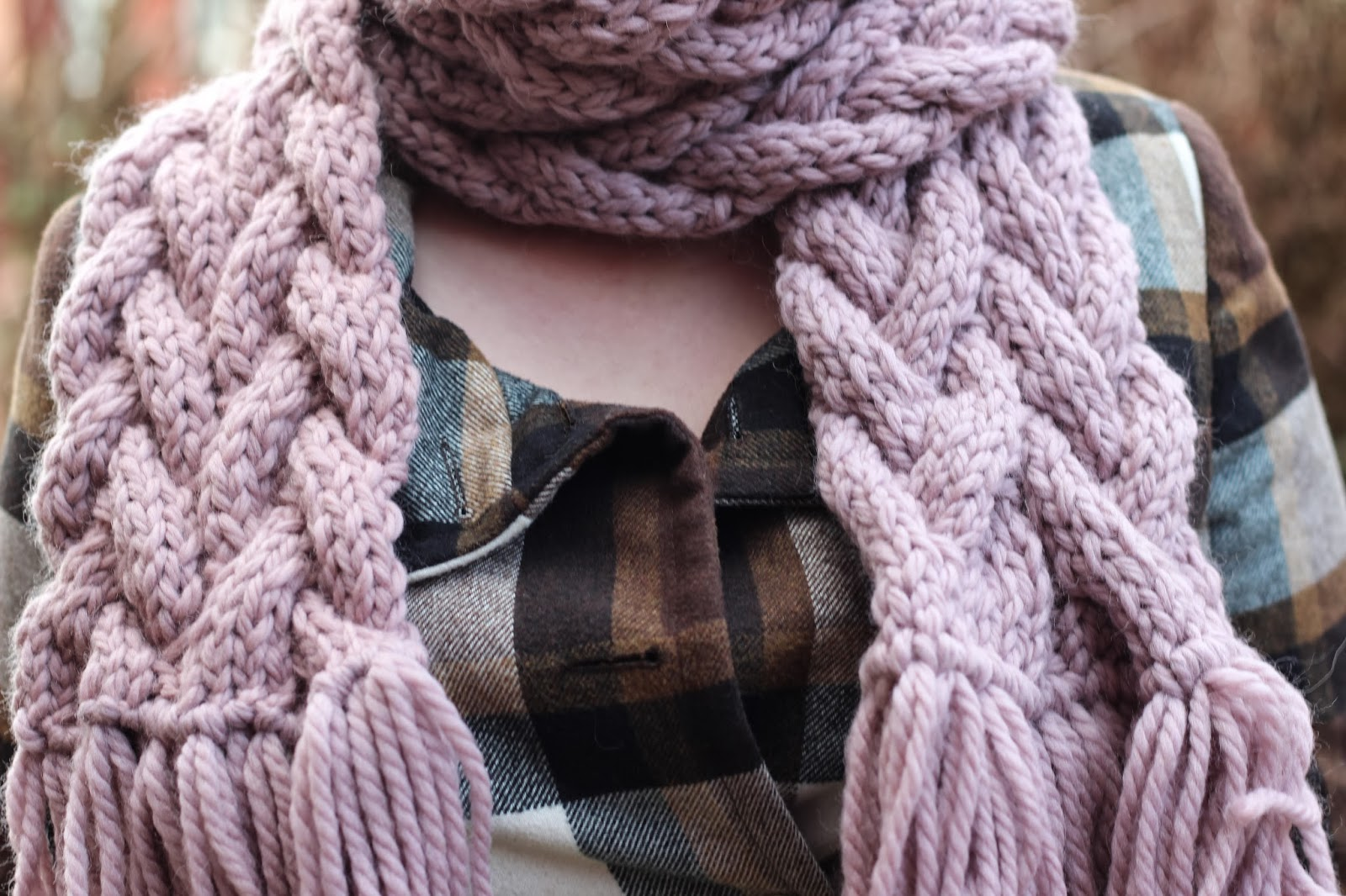 easy chunky cable knit scarf wheelingalong24