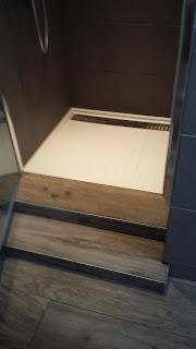 bac résine douche salle de bain design
