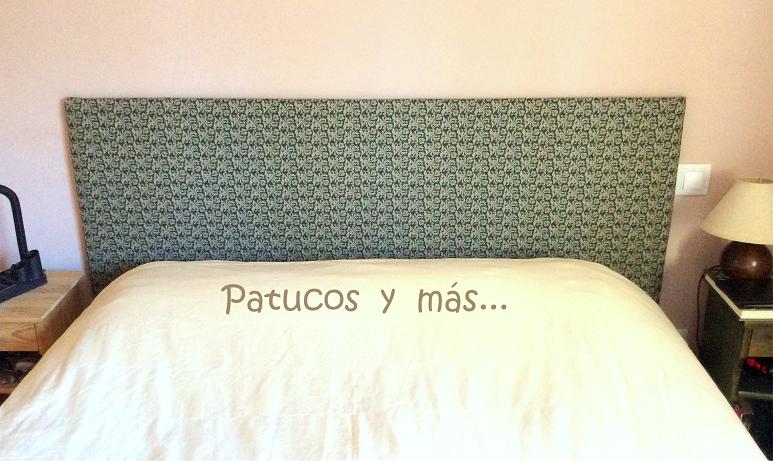 Patucos y m s c mo hacer un cabecero para la cama - Hacer un cabecero de cama ...