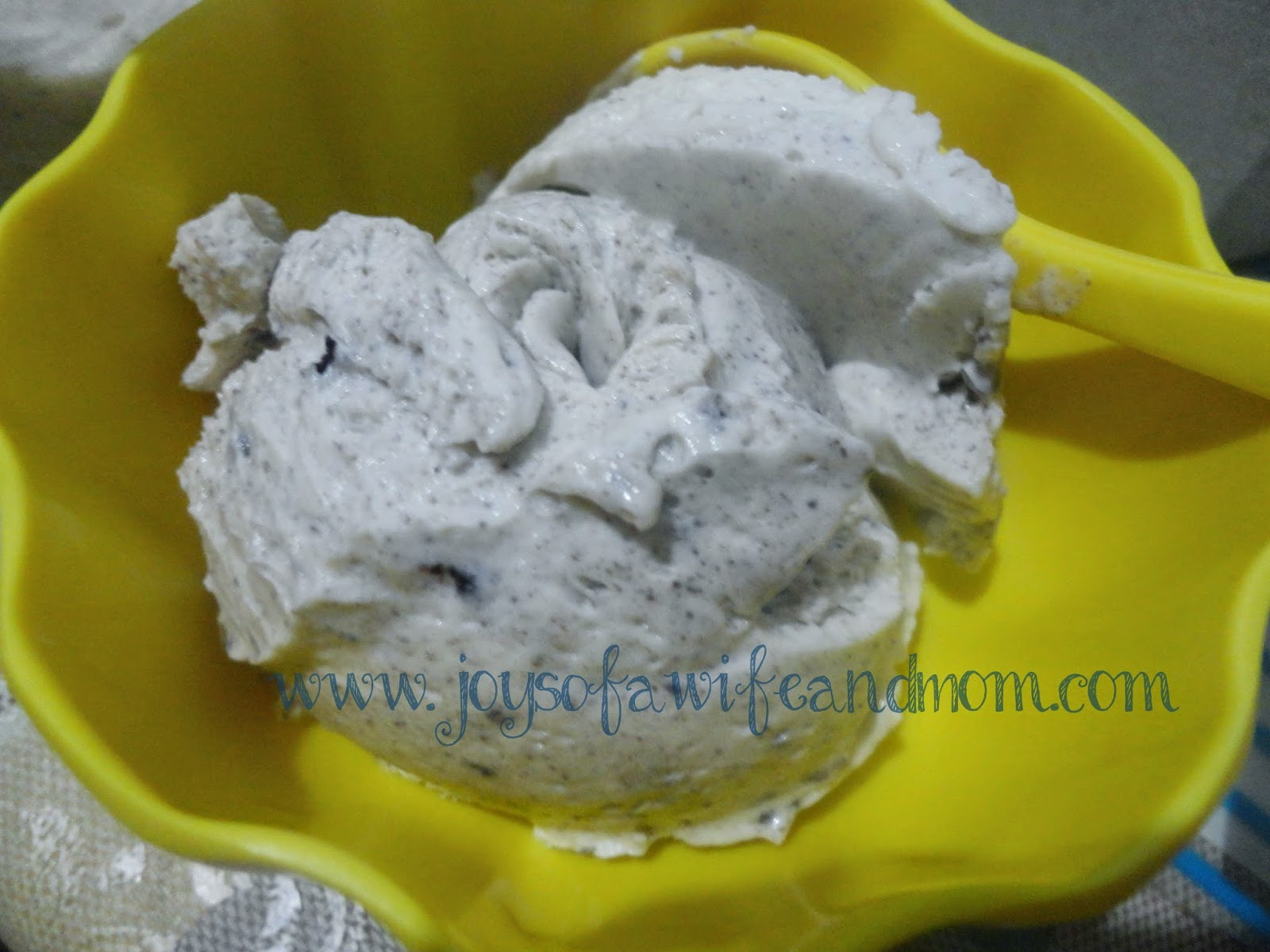 Home-made Ice Cream with Oreo Cookies