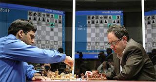 Échecs à Moscou : le champion du monde Vishy Anand annule face au challenger Boris Gelfand lors de la 10e partie - Photo © Chessbase
