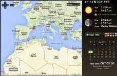 Las horas del amanecer y atardecer de cualquier parte del mundo en un mapa de Google Maps: Sunrise Sunset Map