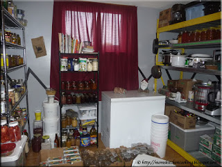 north wall of pantry