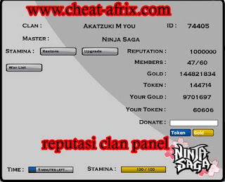 Cheat Reputation Clan Ninja Saga