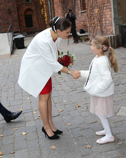 Crown Princess Victoria and Prince Daniel of Sweden attended a lunch held at the City Hall for Tunisian President Beji Caid Essebsi and wife Saida Caid Essebsi