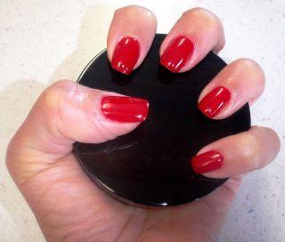 shiny red polish