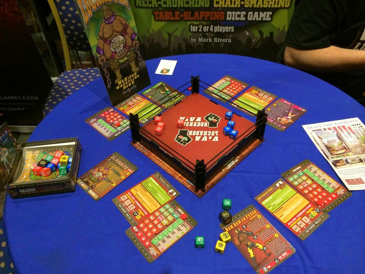Luchador! Mexican Wrestling Dice! kickstarter preview