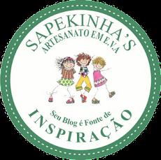 selinho do blog sapekinha's artesanato em eva!!