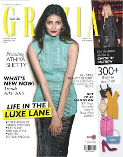 Athiya Shetty for Grazia India Magazine September 2015 Issue