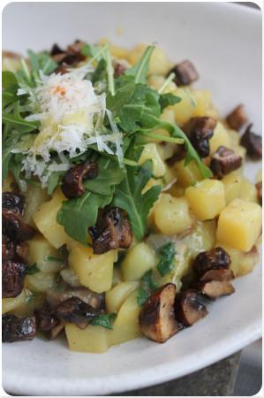 Kartoffelrisotto mit Pilzen