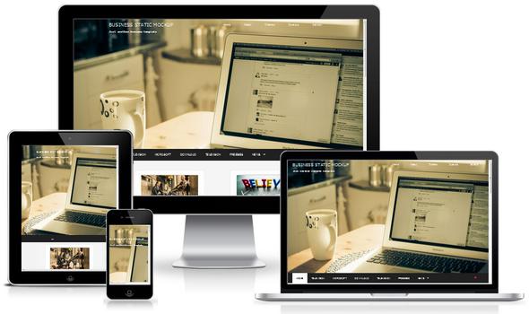 business portfolio responsive blogger template templatezy. Black Bedroom Furniture Sets. Home Design Ideas