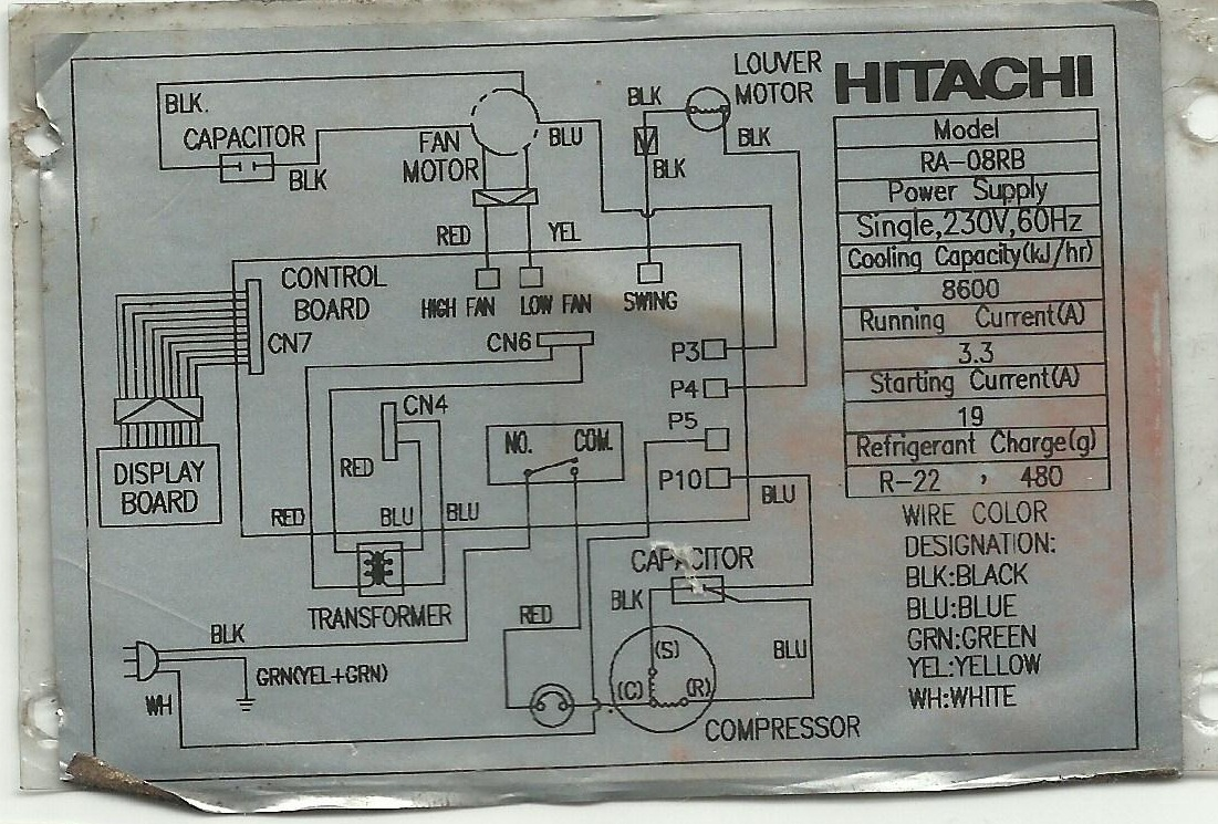 Refrigeration and Air Conditioning Repair Wiring Diagram of