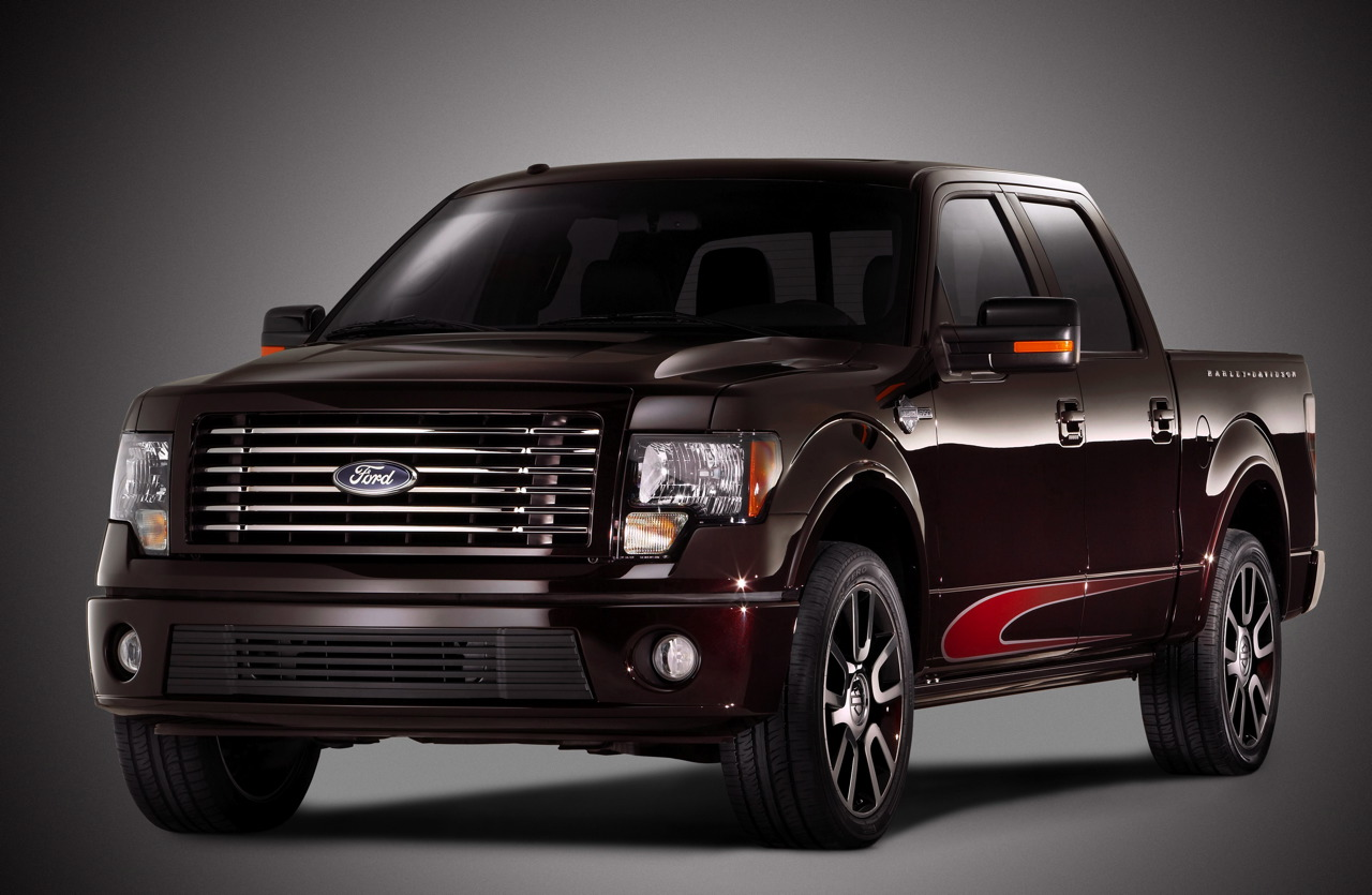 it said ford f150 harley davidson the cars from the ford f150 is a